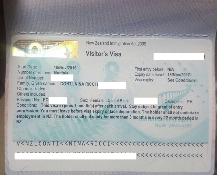 New Zealand Tourist Visa for Filipinos