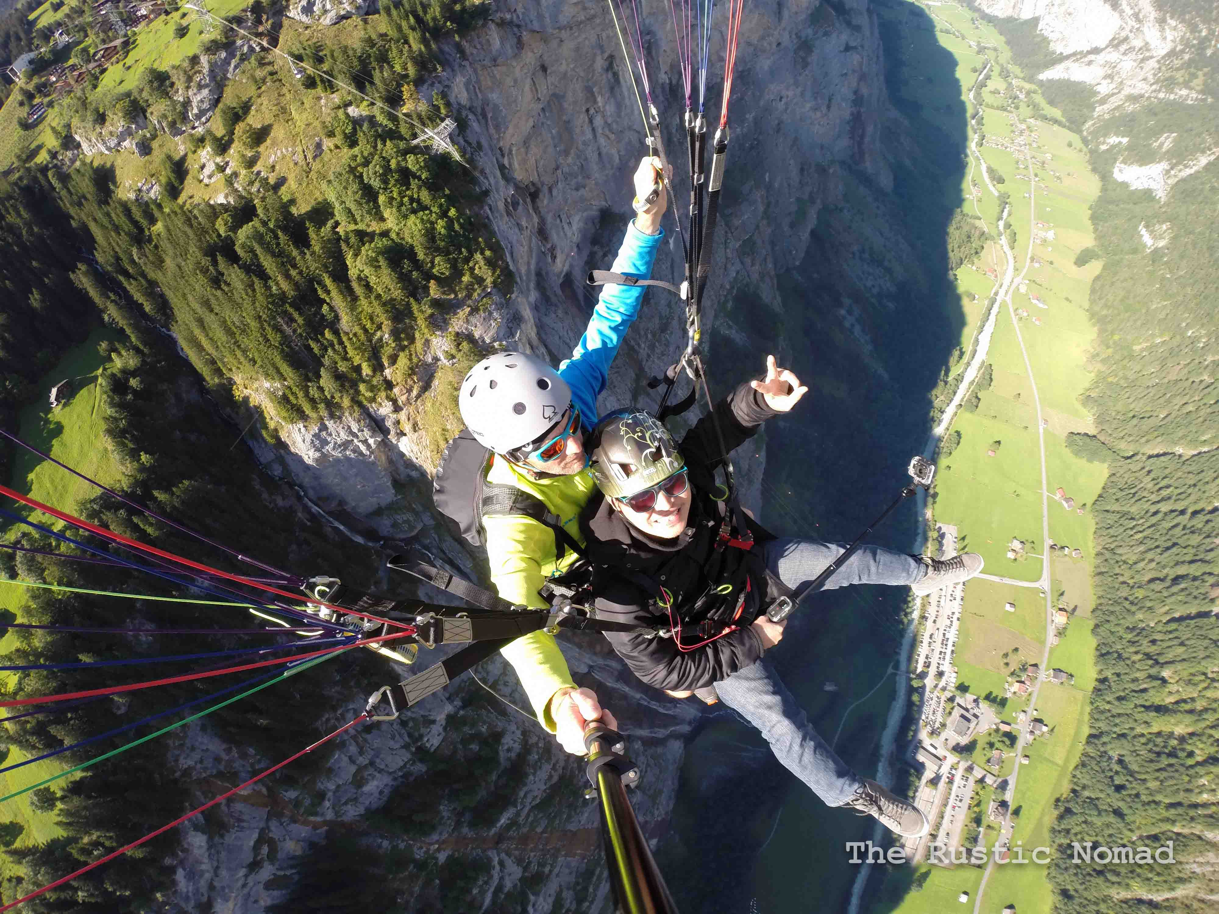 Paragliding in Lauterbrunnen Switzerland - A Taste of the Swiss Alps