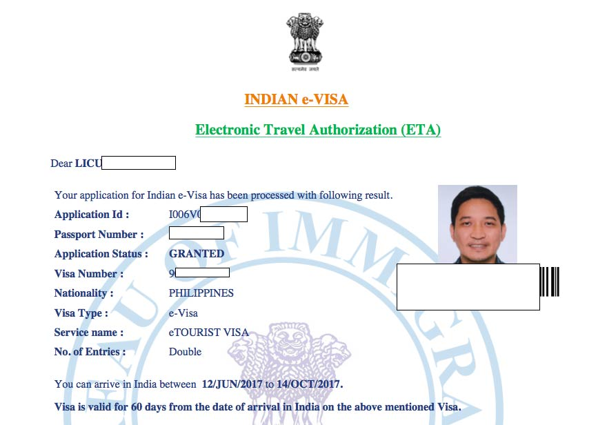 Application For Visa To Travel To India