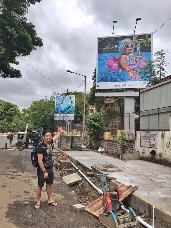A Filipino Baby Splashes The Apple Billboards Worldwide